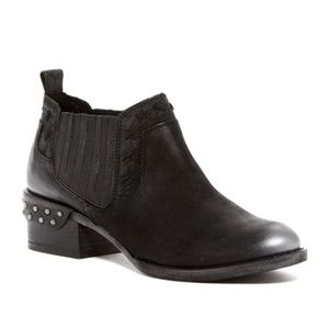 Naughty Monkey Miss M Black Leather Bootie